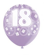 18th Birthday Pink Glitz Latex Balloons 12 inch
